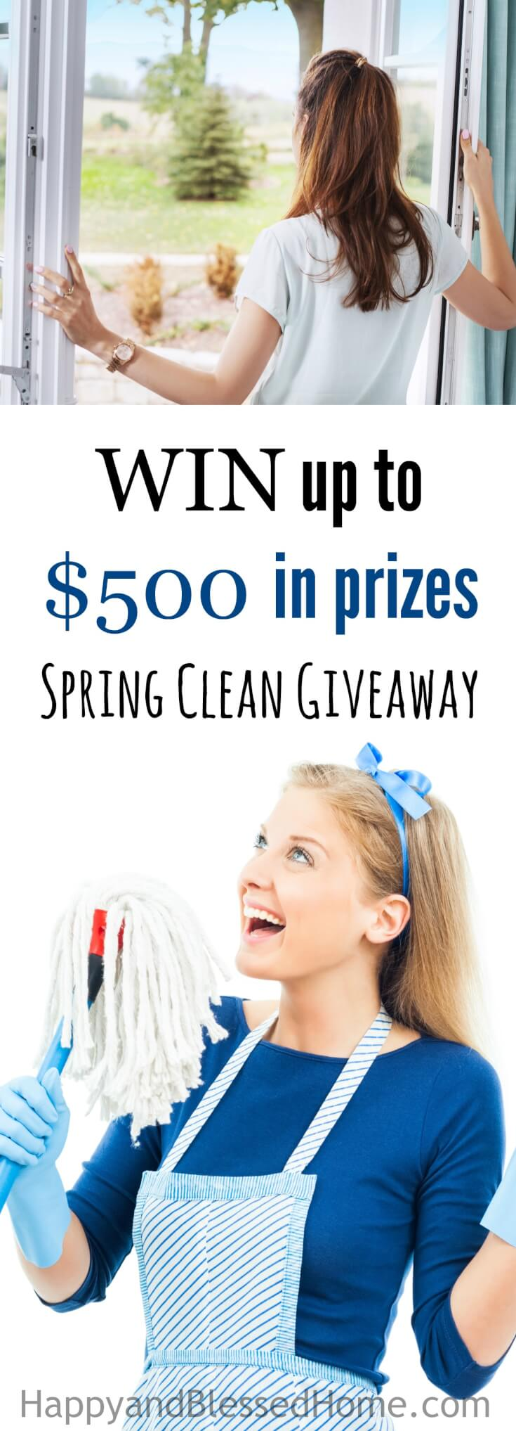 WOOT! It's a Spring Cleaning Giveaway with a prize pack valued at up to $500. Why not make that spring cleaning effort a bit more fun with this giveaway!