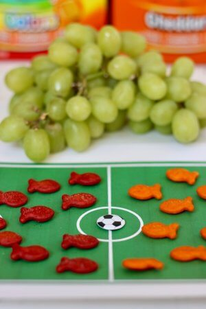 Teach kids How to Play Soccer with Goldfish Crackers