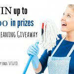 WIN up to $500 in Prizes in the Spring Cleaning Giveaway - Ends 3-31-2018