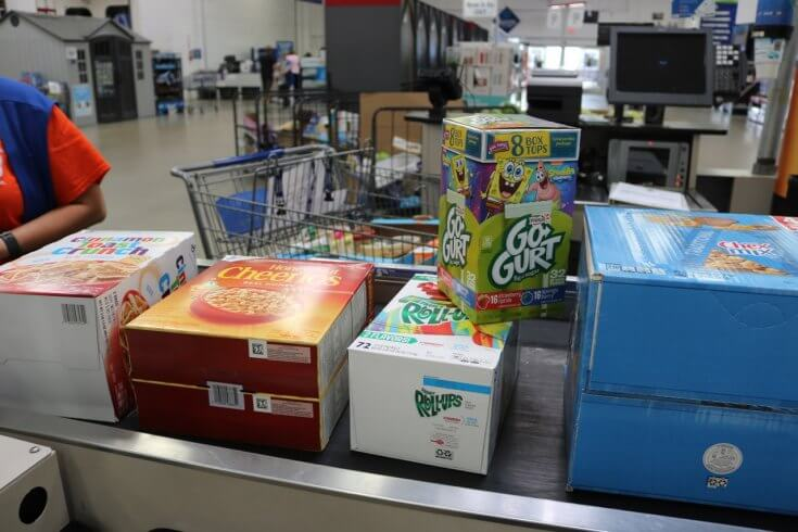 Checking out at Sam's Club and Raising Money for my Child's School through Box Tops