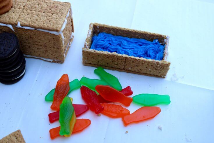 Decide on the box cars for your Graham Cracker Train