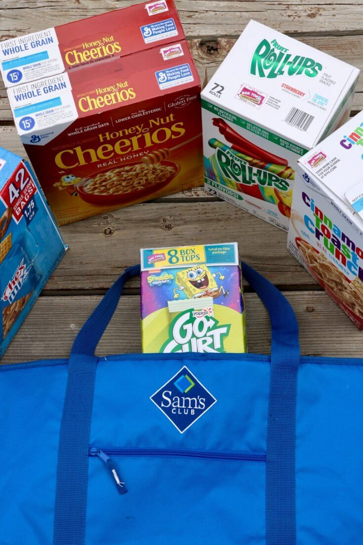 How to Raise Money for your Child's School through Box Tops - Sam's Club bag keeps yogurt cool