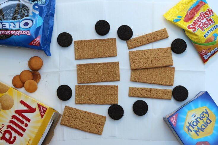 Ingredients for this Graham Cracker Cookie Train Recipe