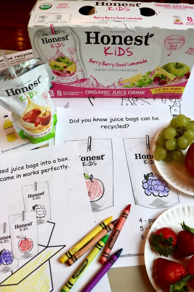 Coloring by number is easy with this 12 Page Recycle Activity Pack for Kids with Recycling Tips for Parents