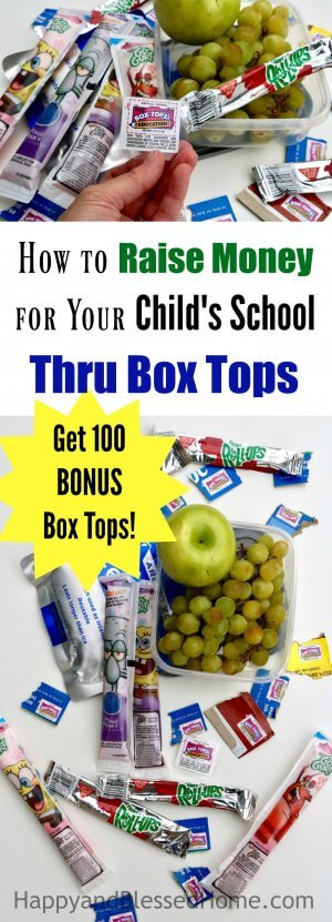 How to Raise Money for Your Childs School through Box Tops with tips for 100 BONUS Box Tops