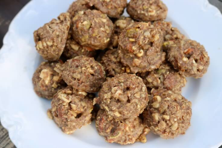 No baking just roll and eat this Crunchy Nutty Organic Energy Bites Recipe