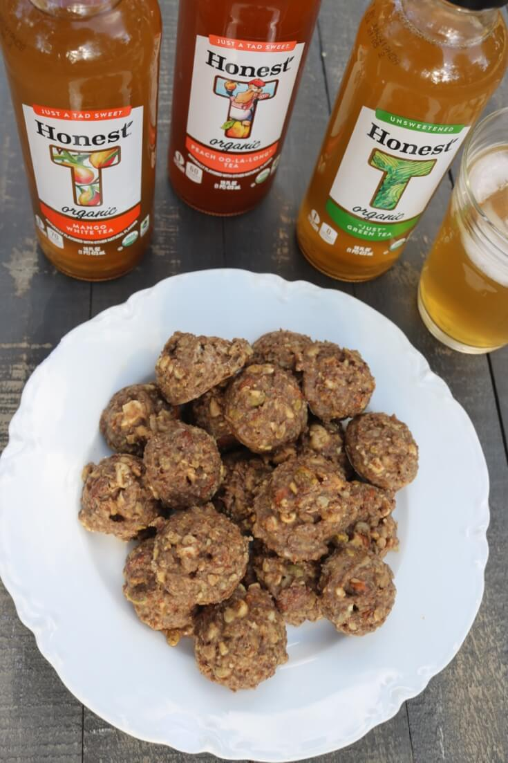 Take a break with Honest Tea and this Crunchy Nutty Organic Energy Bites Recipe