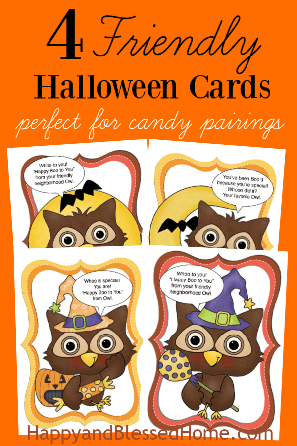 Download your FREE Friendly Halloween Cards for Kids