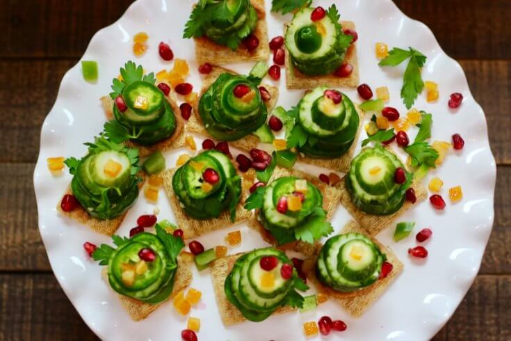 Christmas Decoration Centerpiece Vegetable Stack Christmas Trees Recipe