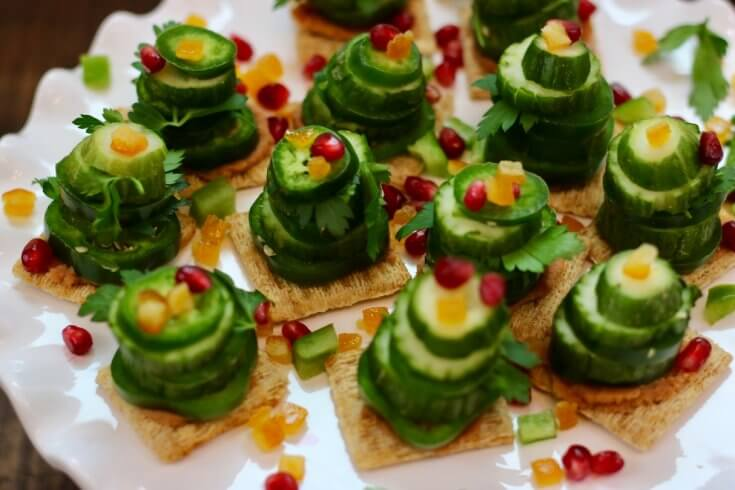 Easy Holiday Recipe Vegetable Stack Christmas Trees Recipe