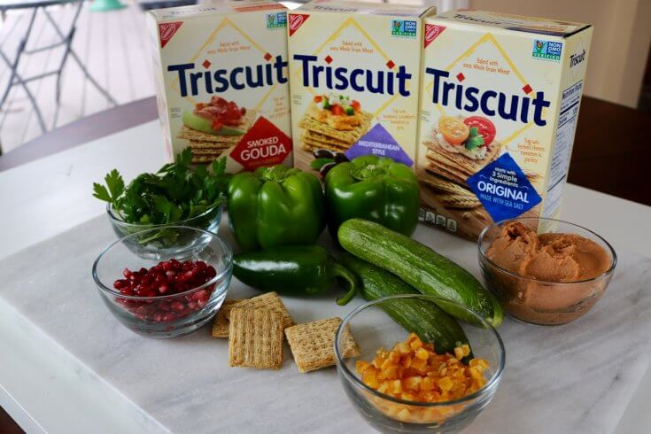 Ingredients for Vegetable Stack Christmas Trees Recipe